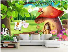 beautiful mushrooms Australia - WDBH custom photo 3d wallpaper Beautiful Forest Mushroom Room Cartoon Children's Room home decor 3d wall muals wall paper for walls 3 d