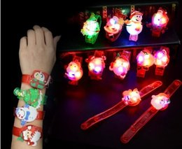Party concert online shopping - 12pcs Cartoon luminous toy bracelet christmas pattern colorful rgb light up toys for holiday party concert toy wrist band T191022