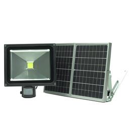 50W mouvement solaire détecté la lumière de sécurité avec détecteur de mouvement d'avertissement lumière imperméable à l'eau de vision nocturne Fill Light pour caméra de vidéosurveillance en Solde