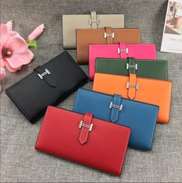 Wholesale best credits cards online – design Best espom Long Wallets Whole Leather Women Card holders Purse Bags fashion Cowskin Genuine leather come with box