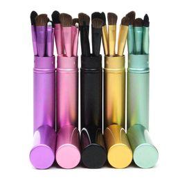 mini lip 2019 - 5pcs Travel Portable Mini Eye Makeup Brushes Set Smudge Eye shadow Eyeliner Eyebrow Brush Lip Make Up Brush kit 50sets l