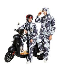 motorcycles rain suit Australia - Men Camouflage Raincoat Woman Rainhat Rainwear Waterproof Hiking Camp Rain Coat Hooded Jacket Motorcycle Rain coat Suit
