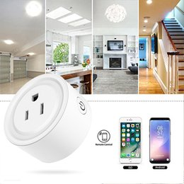 plug socket cameras Australia - Smart Wifi Socket 1 Channel US Plug Power Monitor Works With Google Home Remote Control with Alexa Electric Socket