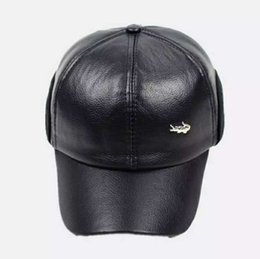 $enCountryForm.capitalKeyWord UK - New Hot Hat Men's Autumn and Winter Baseball Cap Plain Cotton Hat Foreign Trade Leather Thickening Ear Cap High-end Gift Baseball Hat