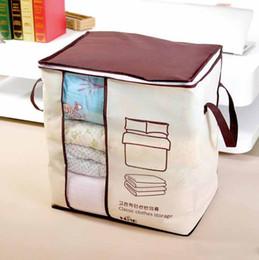 Storage Beds Australia - Non woven Portable Clothes Bedding Storage Bag Organizer Folding Closet For Pillow quilt Storage Box Sundries Bins