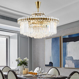 crystal living Australia - Post Modern LED Gold Crystal Chandelier Lighting for Living Room Bedroom Kitchen Dining Room Crystal Pendant Lamp Hotel Decor Lamp