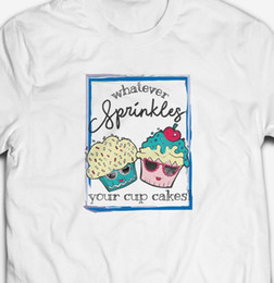 Cupcakes Toppings Australia - FUNNY CUTE CUPCAKE DESSERT SPRINKLES 100% COTTON MENS FIT FOOD T-SHIRT TEE TOP Funny 100% Cotton T Shirt denim clothes camiseta t shirt