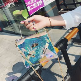 $enCountryForm.capitalKeyWord NZ - 2019 New Brand Women 's Handbags Laser Korean Style Bags Transparent Shoulder Bags Jelly Candy Strap Clear Women Bag #T