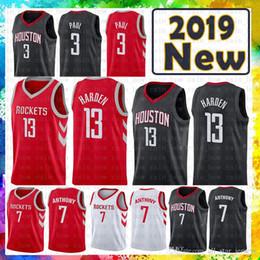 100% Stitched James 13 Harden Houston Jersey Rockets 3 Chris   Paul 7  Carmelo   Anthony Basketball Jerseys Red Black WHITE dc466bdee