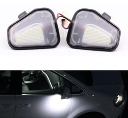 Eos Lighting Australia - Auto Car Error Free LED Side Mirror Puddle Lights For Vw Volkswagen EOS Passat 4motion Santana B7 CC Scirocco Automobile Parts
