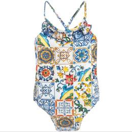 ae3faed9c3842 2019 Summer Hot Sale Toddler Kids Swimwear Baby Girls Cute Bikini Swimwear  One-Piece Swimsuit Swimming Wears Girl