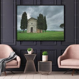 $enCountryForm.capitalKeyWord Australia - Nordic Scandinavian Canvas Painting HD Landscape Picture Prints Tree Sky Church Home Decorations Wall Art Decor for Living Room