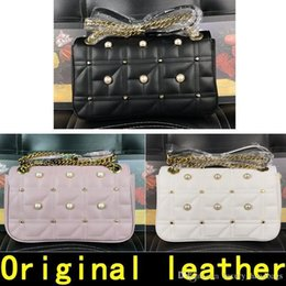 $enCountryForm.capitalKeyWord NZ - Decoration Pearl Marmont Bag Luxury Handbags High Quality Famous Brands Designer Handbags Original Cowhide Genuine Leather Come With Box