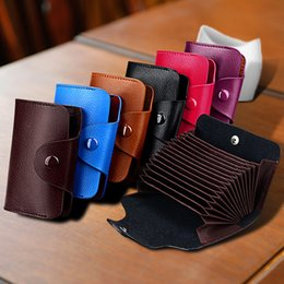 passport case women Australia - Fashion Organ Cards Bag Men Classic Genuine Leather Business Card Case for Women Candy Color Hasp Credit Card Wallet New