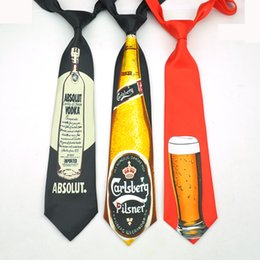 Glasses Brand Names Australia - Name Brand Fashion 4 design beer mug beer glass cup 9cm novelty funny ties for men fashion corbata men's party causal necktie