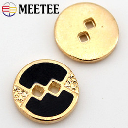 $enCountryForm.capitalKeyWord Australia - Meetee BD290 50pcs 11.5mm Two-holes Metal Buttons DIY Materials Shirt Knitting Decoration Craft Hand Sewing Accessories