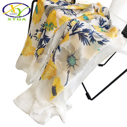 $enCountryForm.capitalKeyWord Australia - 1PC Women Cotton Long Scarves 2019 Spring Ladies Flower Printed Viscose Wraps Thin Summer Soft Female Fashion Shawls Autumn