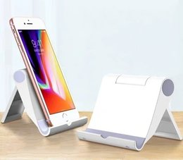 Foldable Desk Stand For Tablets Australia - New Foldable Universal Bed Desk Cellphone Holder Stand for iPhone Samsung Xiaomi iPad Tablet Portable Multi-function Adjustable Phone Suppor
