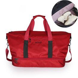 b073722519 Fashion shoe warehouse Gym Bag Women Shoe Compartment Waterproof Sport Bags  for Fitness Training Yoga Bolsa Sac De Sport