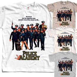 f3b4e1e0d Academy Shorts NZ - T Shirt Fashion Tops Short Men Graphic Crew Neck Police  Academy V2