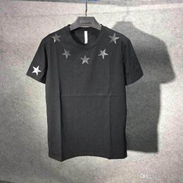 $enCountryForm.capitalKeyWord NZ - 19ss Famous Brands Paris vintage stars around the neck t-shirt High Quality fashion tee t shirts for men women cotton tops