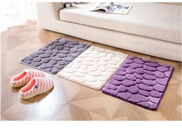 Slip StoneS online shopping - Household D small stone Carpet Keep Fitting DoorMats Flannel printing carpet kitchen bedroom Water absorption Non slip Carpets