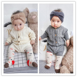 $enCountryForm.capitalKeyWord Australia - Pure Cotton Knit Suit Long Sleeved Jacket Shorts Two Pieces Clothes Girls Clothing Sets Q190523