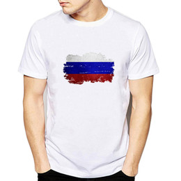 $enCountryForm.capitalKeyWord Australia - Russia t shirt Country flag scrawl short sleeve tops Cool banner fadeless tees Unisex white colorfast clothing Pure color modal Tshirt