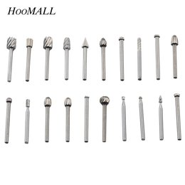 steel power tools Australia - Hoomall 20PCs set High Speed Steel Fine Needle File Electric Mill Matching Electric Screwdriver Drill Power Tools Accessories