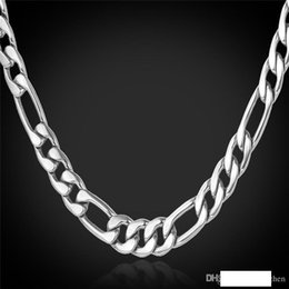 mens figaro chain necklace Canada - 18K Real Gold Plated Figaro Chain Necklaces for Men High Quality Stainless Steel Mens Gold Chain