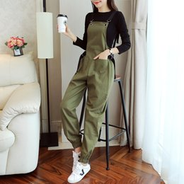 long sleeve modal tees Australia - Wholesale 2019 spring pregnant women loose rompers nursing suit long sleeve breastfeeding tees+strap overalls lactation twinset