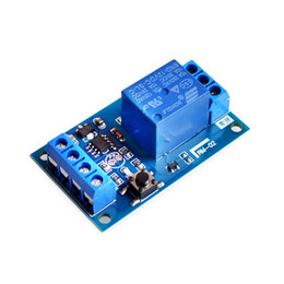 Car Start Stop UK - Freeshipping 10PCS LOT 12V Bond Bistable Relay Module Car Modification Switch One Start and Stop the Self-Locking