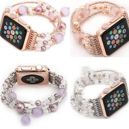 banded agate NZ - newest Women's Agate Bracelet for Apple Watch Band series 3 2 1 bracelet for iWatch Seies 4 42mm 38mm 40mm 44mm Wrist Band