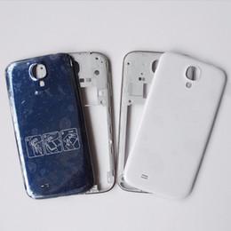 dc0a2f7442d Piezas de repuesto originales para Samsung Galaxy S4 i9505 I9500 I337 M919  Caja de carcasa de marco intermedio Bisel Azul Puerta de la batería