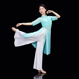 Chinese ladies Clothes online shopping - Chinese Style Fan Dance Costume for New Year Party Lady Elegance Yangko Dance Wear Female Umbrella Clothing