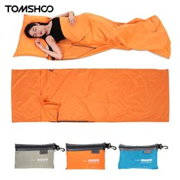 Ultralight folding bag online shopping - TOMSHOO Ultralight design Outdoor Sleeping Bag cm Camping Hiking Bag Liner Portable folding Travel Bags Colors
