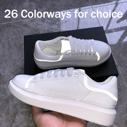 Shoe yellow blue red online shopping - 3M reflective UK mens designer shoes fashion luxury designer women shoes Party Platform casual sneakers EUR