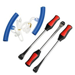 tire levers NZ - 5pcs Pack Motorcycle Car Tire Change Tool Set Tire Dismounting Mounting Set Kit Tyre Spoon Lever Tools Rim Protector Sheaths