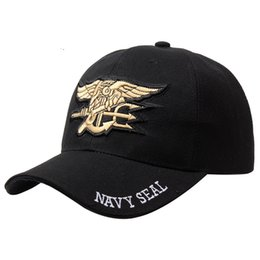 Navy seal caps online shopping - Black US Navy Seal Embroidered Baseball Cap Adjustable One Size Hat For Hunting Paintball Shooting Outdoor