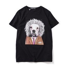 rottweiler tee NZ - Brand Tag Men's T-Shirt Slim Cotton T Shirt Black Color Animal Rottweiler Dog Print Tops Tees Pullover Shirt