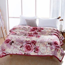 $enCountryForm.capitalKeyWord Australia - Floral Blossom printed Plush Warm Throw Blanket Flat Sheet Bed sheet set Sofa Cover King Queen Twin size Ultra Soft Lightweigh