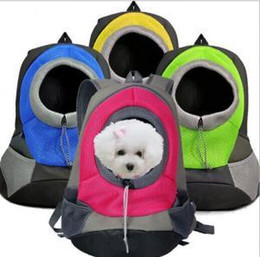 Discount portable canopies - Pet Dog Carrier Backpack Bag Portable Travel Bag Pet Dog Front Bag Mesh Backpack Head Out Double Shoulder Outdoor LJJ_A1
