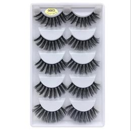 $enCountryForm.capitalKeyWord Australia - 3D Mink Eyelash Hair 5 Pair False Eyelashes Extension Eyelash Hair Full Strip Eye Lashes by Aritificial Mink 2 Designs 3001362