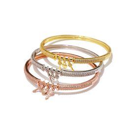 Diamond Heart Silver Bracelet Australia - Copper micro-inlay accessories gold and silver fashion shiny beautiful diamond heart small key woman bracelet