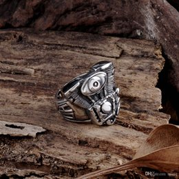 $enCountryForm.capitalKeyWord Australia - Ancient Maya Fashion Mechanical Storm Stainless Steel Men's Ring Vintage Gothic Jewelry 316L Stainless Steel Biker Rings men jewelry