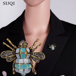 Glasses Brooch Australia - SUQI Vintage personality cute animal bee Brooch Rhinestone Glass Enamel Brooch for Women's girl Brooches Pin dress Jewelry accessories 2019