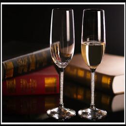 $enCountryForm.capitalKeyWord Australia - Wedding wine glasses Champagne Flutes Wineglass Crystalline Luxury Wedding Toasting Glasses Goblet Crystal Rhinestones Design