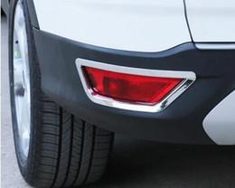 $enCountryForm.capitalKeyWord Australia - ABS chrome 3M 2pcs Rear Fog Light Lamp Bumper Chrome Trim Cover For Ford Kuga Escape 2013 2014 2015 2016 Car Styling Sticker Accessories