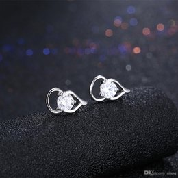 $enCountryForm.capitalKeyWord Australia - 100% 925 Sterling Silver Geometric Earrings Ladies Fashion Simple Earrings Female Sparkling Zircon Earrings Exquisite Jewelry