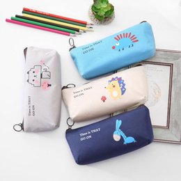 fantastic bags NZ - Animal Pencil Case Fabric School Supplies Stationery Gift School Cute Pencil Box Case Bag Supply